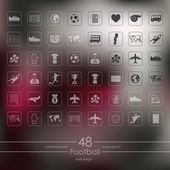 Set of football icons — Stock Vector
