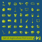 Set of agriculture icons — Stok Vektör