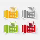 Realistic design element: fax — Vetor de Stock