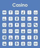 Set of casino simple icons — Vector de stock