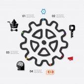 Business infographic ikony — Vector de stock