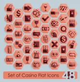 Set of casino icons — Stock Vector