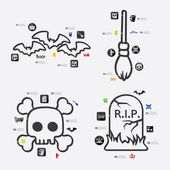 Halloween infographic icons — Stock Vector