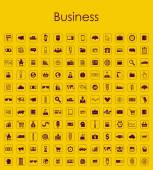 Set of business simple icons — Vector de stock