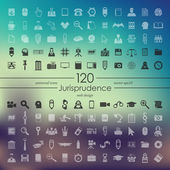 Set of jurisprudence icons — Stock Vector