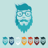 Flat design: face male — Vector de stock