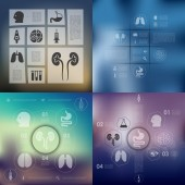 Medical infographic icons — Stock Vector