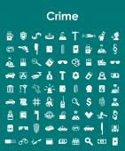 Set of crime simple icons — Stock Vector