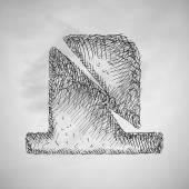 Tombstone icon. Vector illustration — Vector de stock