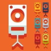 Large audio speaker icon — Stock Vector