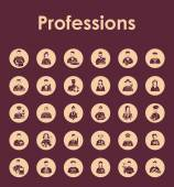 Set of professions simple icons — Stock Vector