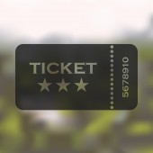 Ticket icon on blurred background — Stock Vector
