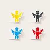 Elemento de diseño realista: ángel — Vector de stock