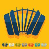 Flat design: accordion — Stock Vector