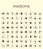 Set of medicine simple icons — Stock Vector
