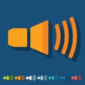 Sound on icon — Stock Vector