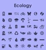 Set of ecology simple icons — Vector de stock