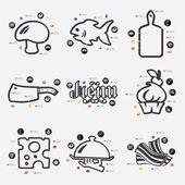Restaurant infographic icon — Stock Vector