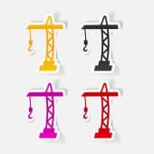 Hoisting crane icon — Stock Vector