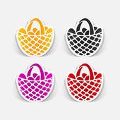Easter basket icon — Vector de stock