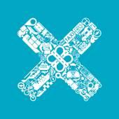 Cross icon. Vector illustration — Stockvector