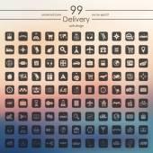Conjunto de iconos de entrega — Vector de stock