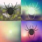 Spider icon blurred — Vector de stock