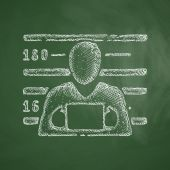 Suspect icon. Vector illustration — Stock Vector