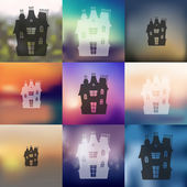 Blurred house icon — Vector de stock