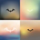 Blurred bat icon — Stock Vector