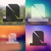 Blurred tombstone icon — Vector de stock
