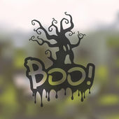 Blurred Boo icon — Stock Vector