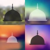 Blurred Mosque icon — Vector de stock