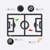 Football infographic icon — Stock Vector