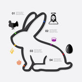 Easter infographic icon — Stock Vector