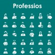 Set of professions simple icons — Stock Vector #64773789