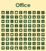 Set of office simple icons — Stock Vector
