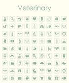 Conjunto de ícones simples veterinárias — Vetor de Stock