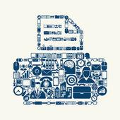Printer icon shaped — Stok Vektör