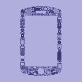 Smartphone icon shaped — Stockvektor
