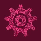 Cogwheel icon shaped — Stock Vector