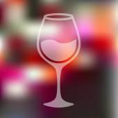 Wineglass icon blurred — Stock Vector