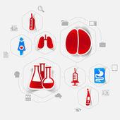 Médecine autocollant infographique — Vecteur