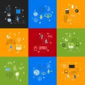 Technologia naklejki infographic — Wektor stockowy
