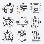 Game infographic elements — Stock Vector