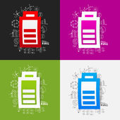 Business formulas with charge battery — 图库矢量图片
