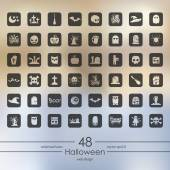 Conjunto de iconos de halloween — Vector de stock