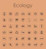 Set of ecology simple icons — Stock Vector