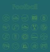 Набор футбола простые символы — Cтоковый вектор