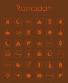 Set of ramadan simple icons — 图库矢量图片